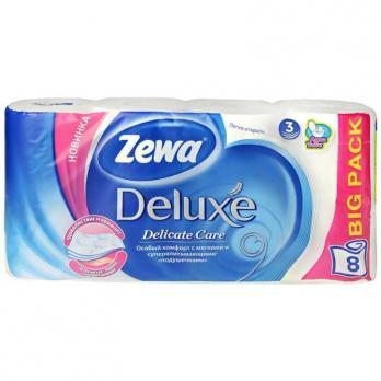 ZEWA Deluxe Туалетная бумага Белая 3 слоя 8 рулонов