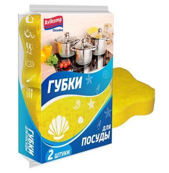 Avikomp CleinSet Губка для посуды Ракушка фигурная 2шт